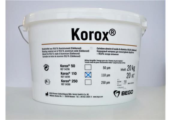 BEGO KOROX Edelkorund 110µ 20kg
