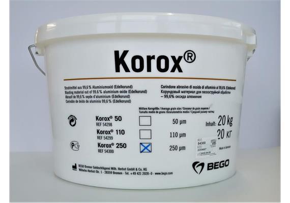 BEGO KOROX Edelkorund 250µ 20kg
