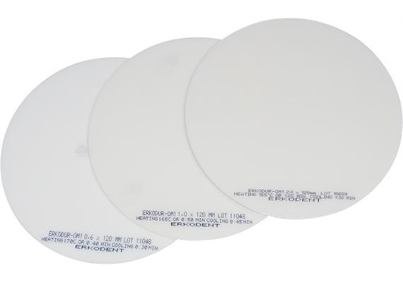 ERKODUR Ø120mm klar mit Isolierfolie - 1.5 mm (10 Stück)