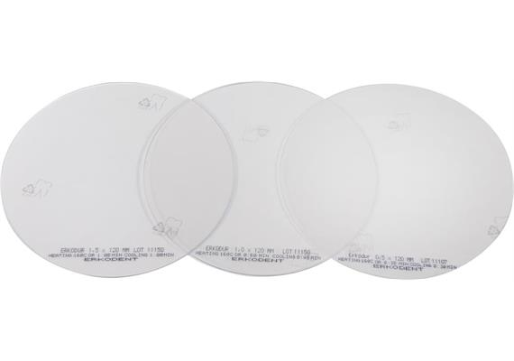 Erkodur-AL Ø 125 mm, klar - 1.0 mm (20 Stück)