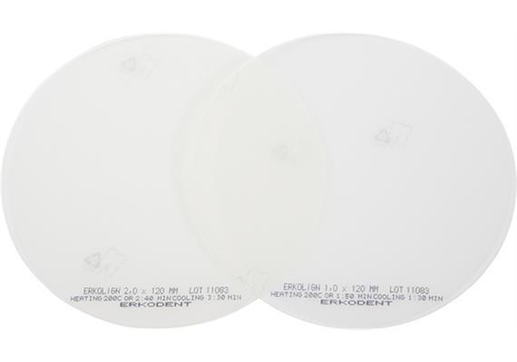 ERKOLIGN Ø120mm transparent mit Isolierfolie - 1.0 mm (20Stk)