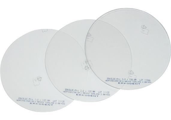 ERKOLOC PRO Ø125mm transparent mit Isolierfolie - 1.3 mm (20 Stk)