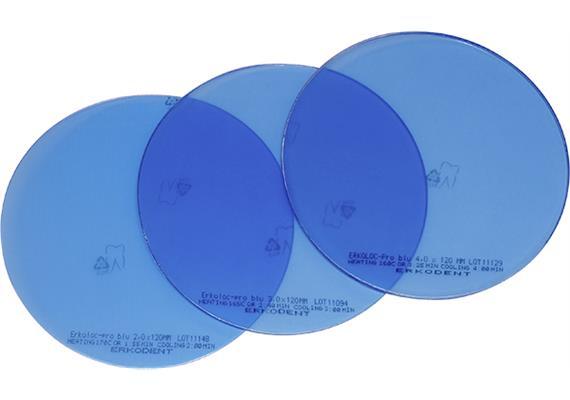 ERKOLOC PRO BLU Ø120mm blau transparent - 3.0 mm (10 Stk)