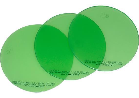 ERKOLOC PRO GREEN Ø120mm grün transparent - 3.0 mm (10 Stk)