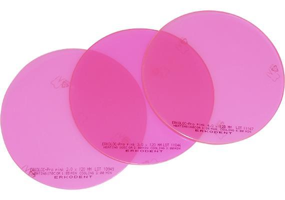 ERKOLOC PRO PINK Ø125mm pink-transparent - 3.0 mm (10 Stk)