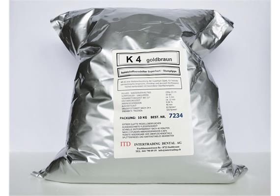 K4 Superhartgips goldbraun Typ IV 10 kg