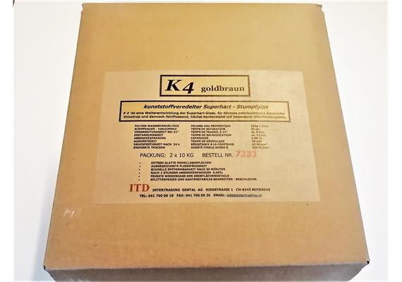 K4 Superhartgips goldbraun Typ IV 2x10 kg