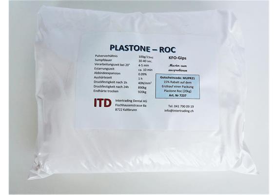 Plastone-roc extraweiss KL 4 Probierpackung