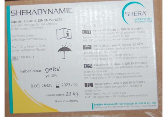 Shera Dynamic Typ III gelb 20kg