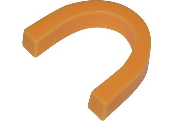 Wachsbisswälle gebogen opak-orange weich 100Stk.